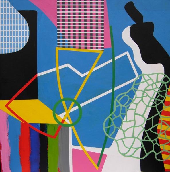'Before the race' acrylic on canvas ' acrylic 90 x 90