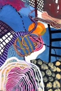 Watercolour/collage 17 x 25