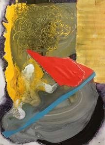 'Beacon'-A5 watercolour-collage