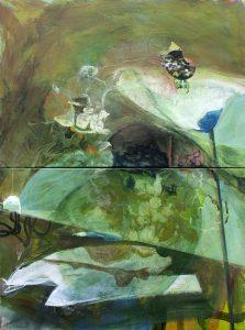 'The Hillside' acrylic on canvas 61 x 92cm