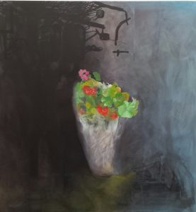 'The Offering' acrylic on canvas 90 x 95