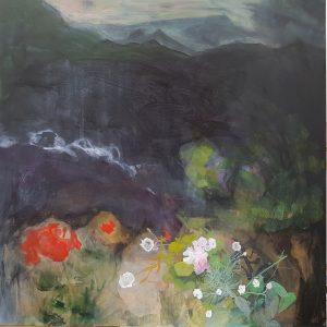 'The Fool' Acrylic on Canvas 95 x 95cm