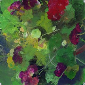 Hidden pool, Watercolour 25 x 25cm