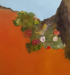 Adaptation - acrylic on canvas, 90 x 95cm