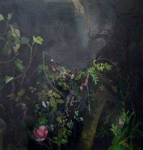 Resistance - 124 x 120cm, acrylic on canvas