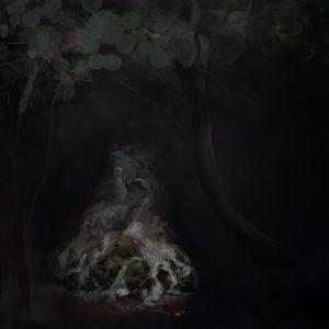 The waterfall - acrylic on Canvas 90 x 90cm